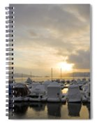 Winter Marina Spiral Notebook