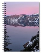 Winter Mirror At Crater Lake Spiral Notebook