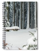 Winter Moments In Harz Mountains Spiral Notebook
