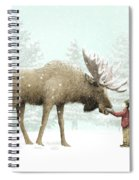 Winter Moose Spiral Notebook