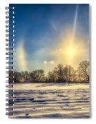 Winter Morn In Minnesota Spiral Notebook