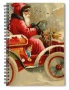 Winter Motoring, Victorian Christmas Card Spiral Notebook