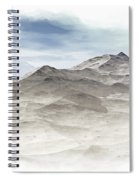 Winter Mountain Peaks Spiral Notebook