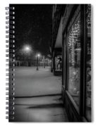 Winter Night On Main Spiral Notebook