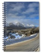 Morant's Curve On The Bow Valley Parkway Spiral Notebook