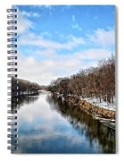 Winter On The Cedar Spiral Notebook