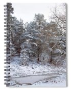 Winter On The Chase Spiral Notebook