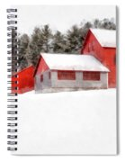 Winter On The Farm Enfield Spiral Notebook