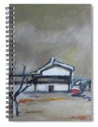 Winter On The Farm Spiral Notebook