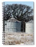 Winter On The Prairie Number 1 Spiral Notebook