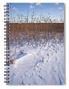 Winter On The Prairie Spiral Notebook