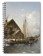 Winter On The Rhine Spiral Notebook