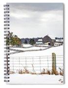 Winter Ontario Farm 3 Spiral Notebook
