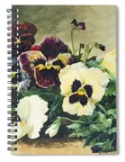 Winter Pansies Spiral Notebook