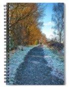 Winter Path In Scotland Spiral Notebook