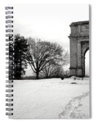Winter Path To Glory Spiral Notebook