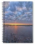 Winter Purple Spiral Notebook