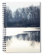 Winter Reflection On The Yakima River Spiral Notebook