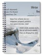 Winter Rest Spiral Notebook