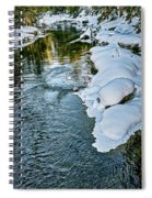 Winter River Reflections - Yellowstone Spiral Notebook