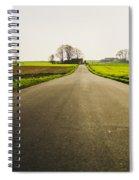 Winter Road Ground Level Spiral Notebook