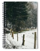 Winter Rural Pathway Spiral Notebook
