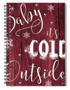 Winter Rustic Wood Sign Spiral Notebook