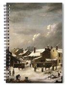 Winter Scene In Brooklyn Spiral Notebook