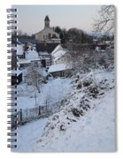 Winter Scene In North Wales Spiral Notebook