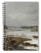 Winter Scene In Pennsylvania Spiral Notebook