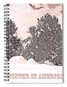 Winter Scene In The Colorado Rockies Spiral Notebook