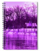 Winter Scene In Violet Spiral Notebook