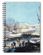 Winter Scene: Morning 1854 Spiral Notebook