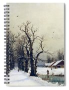 Winter Scene Spiral Notebook