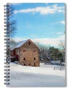 Winter Scene On A Pennsylvania Farm Spiral Notebook