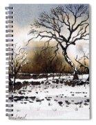Winter Scene Stainland Spiral Notebook