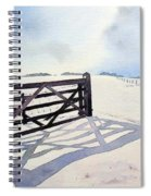 Winter Scene With Gate Spiral Notebook