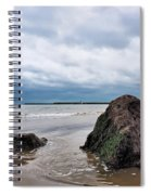 Winter Seascape - Lyme Regis Spiral Notebook