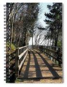 Winter Shadows At The Bridge Spiral Notebook