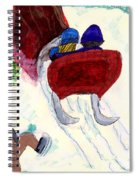 Winter Sleigh Ride Through The Tunnel Spiral Notebook