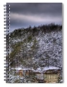 Winter Snow Storm Spiral Notebook