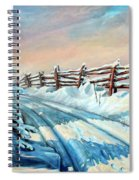 Winter Snow Tracks Spiral Notebook