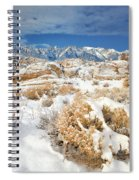 Winter Snowstorm Blankets The Alabama Hills California Spiral Notebook