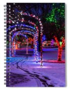 Winter Spirit At Locomotive Park Spiral Notebook