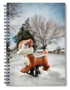 Winter Squirel Spiral Notebook