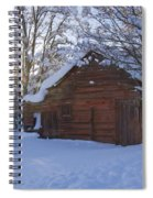 Winter Stable Spiral Notebook