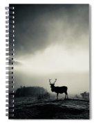 Winter Stag Spiral Notebook