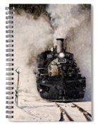 Winter Steam At Rockwood Colorado Spiral Notebook