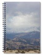 Winter Storm On Desert Mountain Spiral Notebook