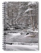 Winter Stream And Woods Spiral Notebook